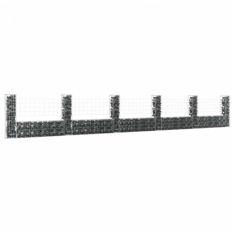 vidaXL Armario taquilla con 6 compartimentos acero 90x45x180 cm gris