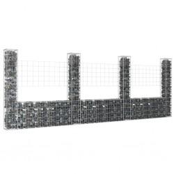 vidaXL Cobertizo contenedor de basura triple acero inoxidable 240L