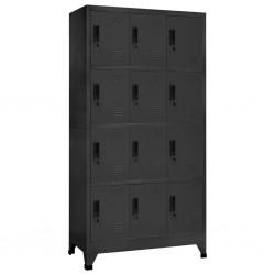 vidaXL Toallero de hierro negro 12,5x12,5x60 cm