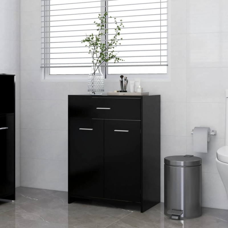 vidaXL Juego de muebles de cocina 7 piezas aglomerado gris hormigón