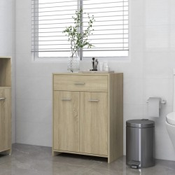 vidaXL Juego de muebles de cocina 7 piezas aglomerado negro brillo