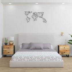 vidaXL Banco columpio madera maciza de teca con cojín azul 120 cm