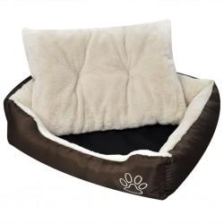 vidaXL Sillas de comedor 6 unidades cuero artificial marrón oscuro