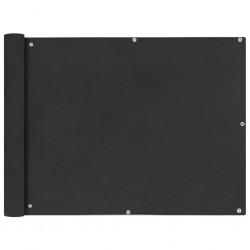 Tander Set de paneles de valla WPC negro 446x(105-186) cm