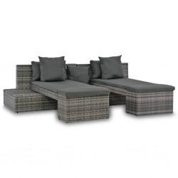 Tander Tocador con espejo de madera maciza de acacia 112x45x76 cm