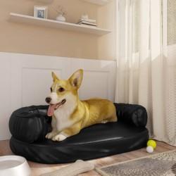 Chesterfield Silla para oficina de cuero artificial marrón