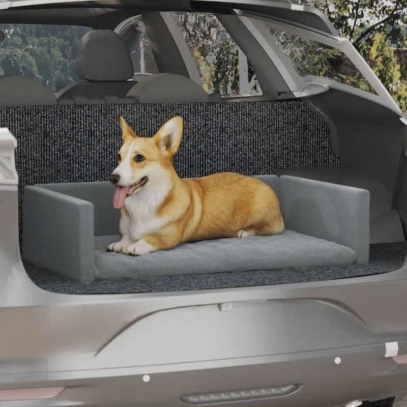 vidaXL Silla de escritorio Racing reclinable de cuero artificial gris