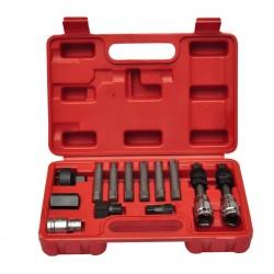 vidaXL Kit de comprobación de presión de aceite 12 piezas