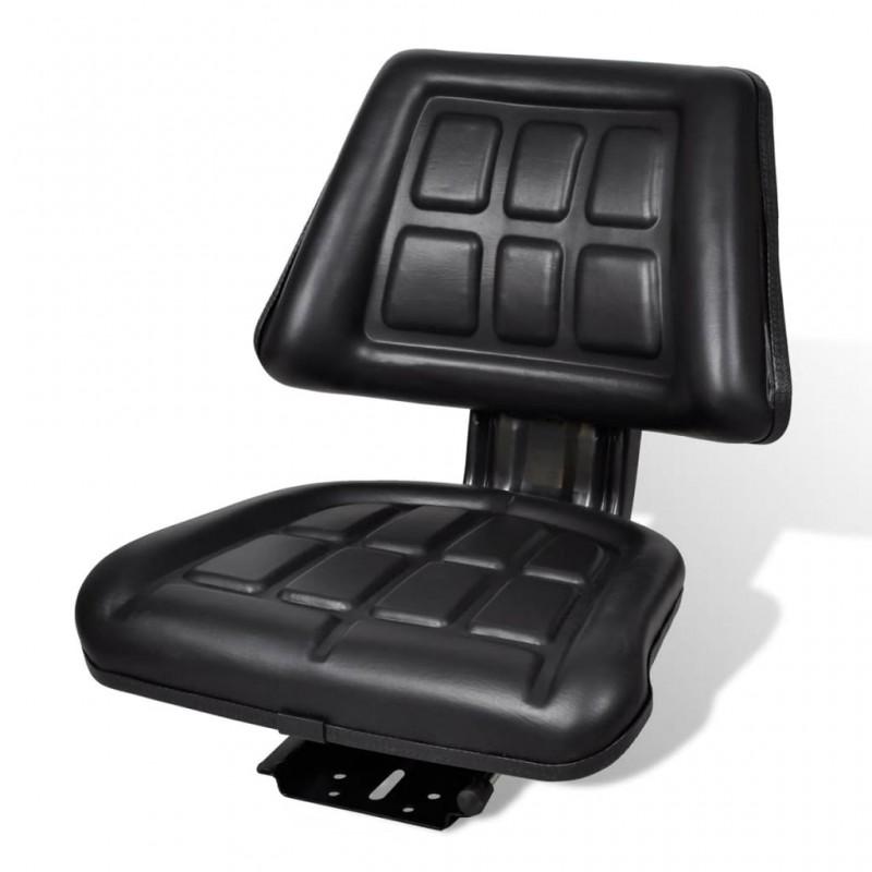 vidaXL Sillón de masaje de cuero sintético blanco crema