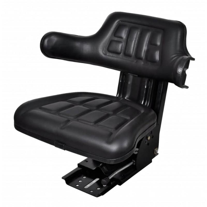 vidaXL Sillón de masaje eléctrico y reposapiés cuero artificial crema