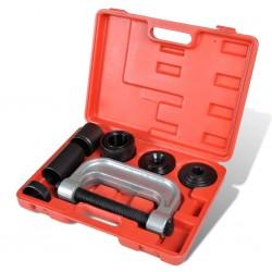 vidaXL Mesitas de noche con un cajón marrón/blanco 2 unidades