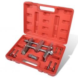 vidaXL Mesitas de noche con un cajón negra 2 unidades