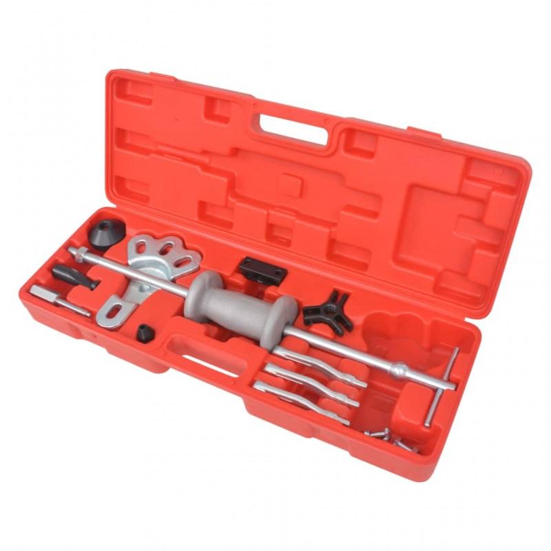 vidaXL Mesa alta de cocina con taburetes madera