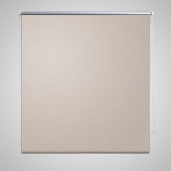 vidaXL Persiana estor opaca enrollable blanco 100x175 cm