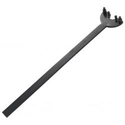 vidaXL Sillón de estilo francés de tela gris