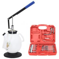 vidaXL Cómoda con 6 cajones de madera marrón y blanca