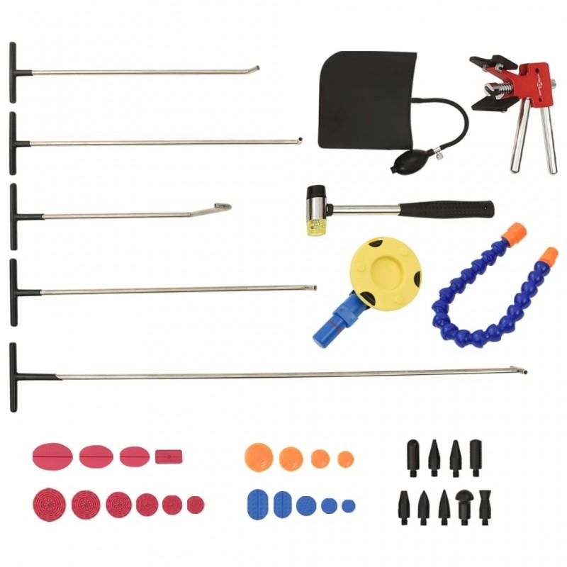 vidaXL Armario de tela compartimentos y varillas marrón 45x150x176cm