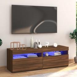 Tander Mueble de TV con patas madera gris brillante 103,5x35x50 cm