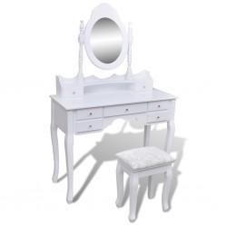 vidaXL Mesa de comedor redonda MDF negra