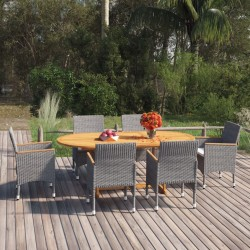 Tander Muebles de jardín 2 piezas marrón miel madera maciza de pino