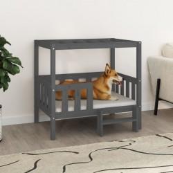 Tander Set de salón de jardín de 3 piezas blanco madera maciza de pino