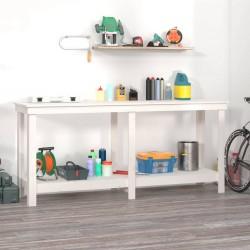 Tander Estantes de pared 2 unidades aglomerado blanco 100x15x20 cm