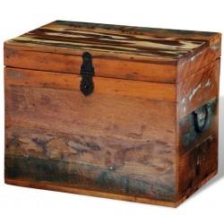 Mesa de TV de teca reciclada con 3 cajones apilables
