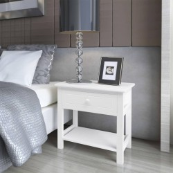 vidaXL Sofá modular de 3 plazas de cuero artificial blanco
