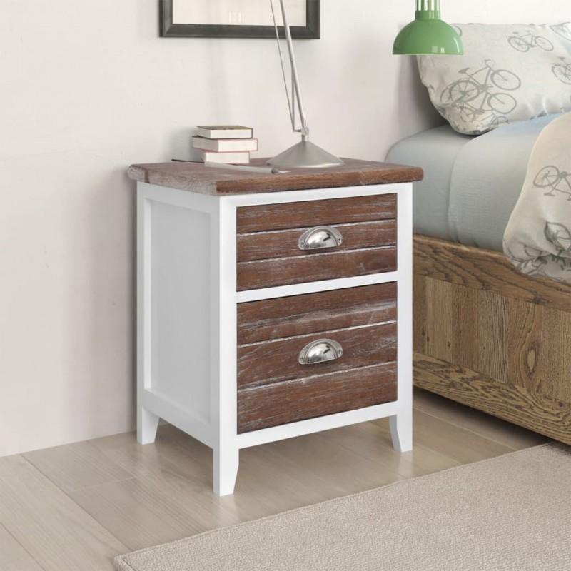 2 alfombrillas de baño de bambú 40 x 50 cm marrón oscuro