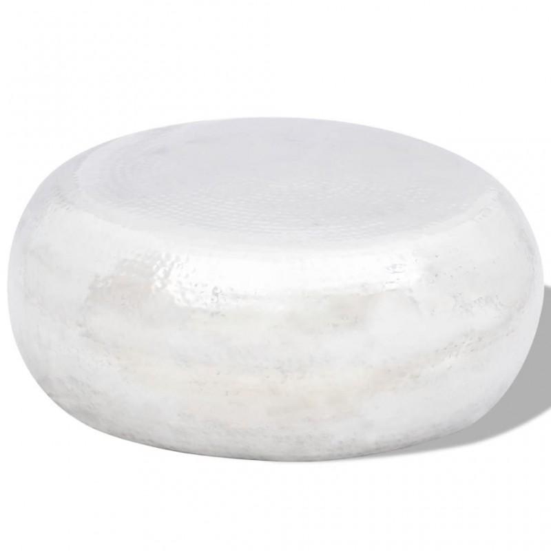 vidaXL Taburete de cuero sintético blanco y negro