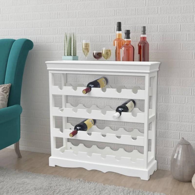 vidaXL Botellero para 11 botellas de aluminio plateado