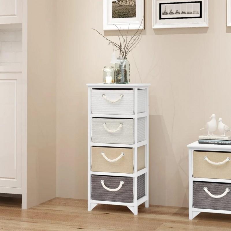 vidaXL Estantería librería en forma de escalera 107 cm blanca