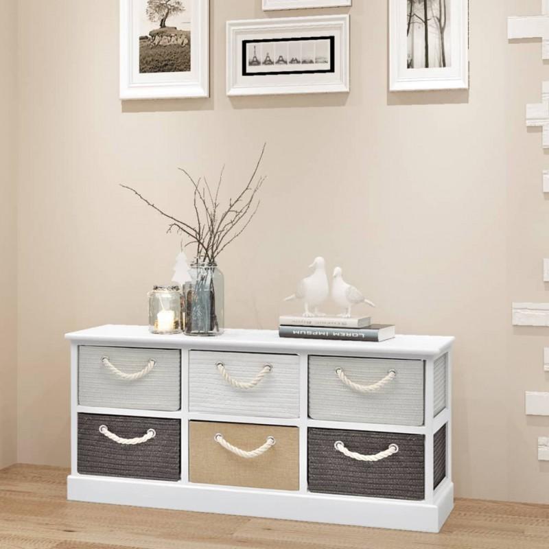 vidaXL Estantería librería en forma de escalera 107 cm color roble