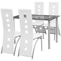 vidaXL Cubertero estilo barroco MDF blanco